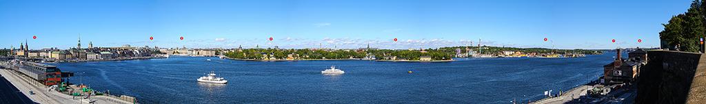 Panoramablick Stockholm von Södermalm